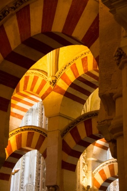 Columns at the Great Mosque in Cordoba